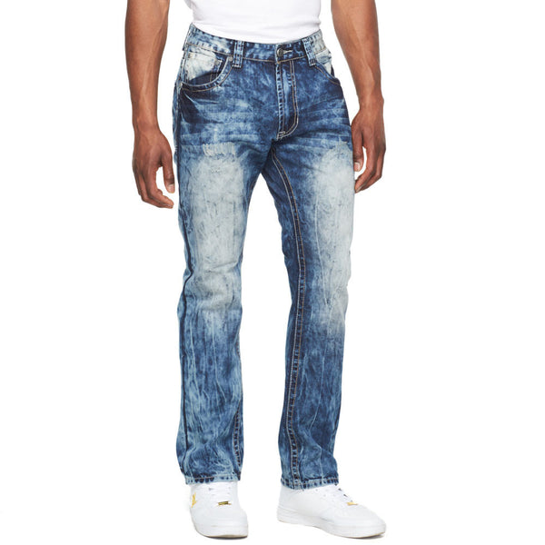 Bleaching The Basics Cloud Blue Jean - Citi Trends Mens - Front