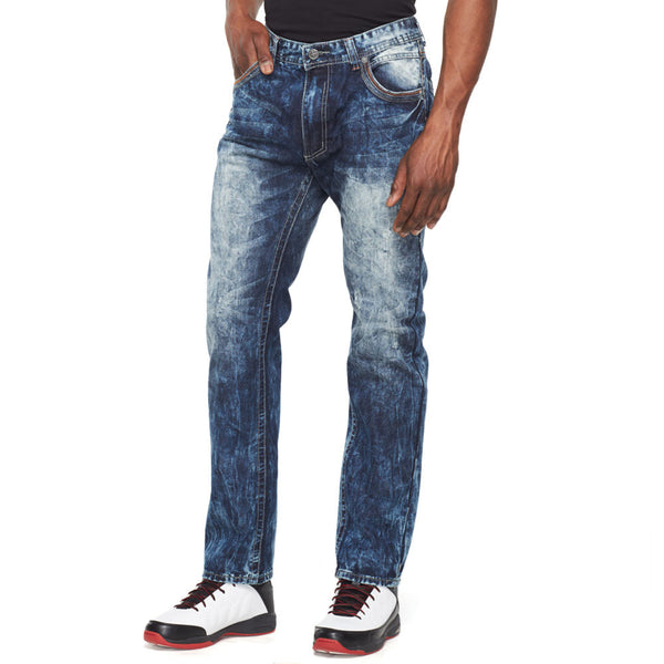 Bleaching The Basics Midnight Blue Jean - Citi Trends Mens - Front