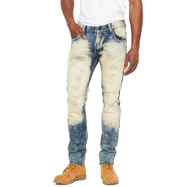 So Faded Cloud Bleach Rip And Repair Jean - Citi Trends Mens - Front