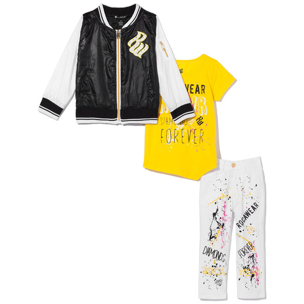 Diamonds Are Forever Girls 3-Piece Rocawear Varsity Jacket Set - Citi Trends Girls - Front