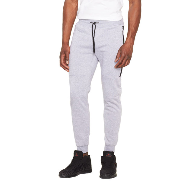 Fresh Fleece Heather Grey Jogger - Citi Trends Mens - Front