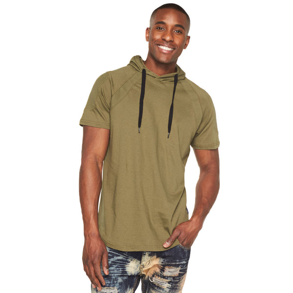 Moto Mood Olive Curve-Hem Hoodie - Citi Trends Mens - Front