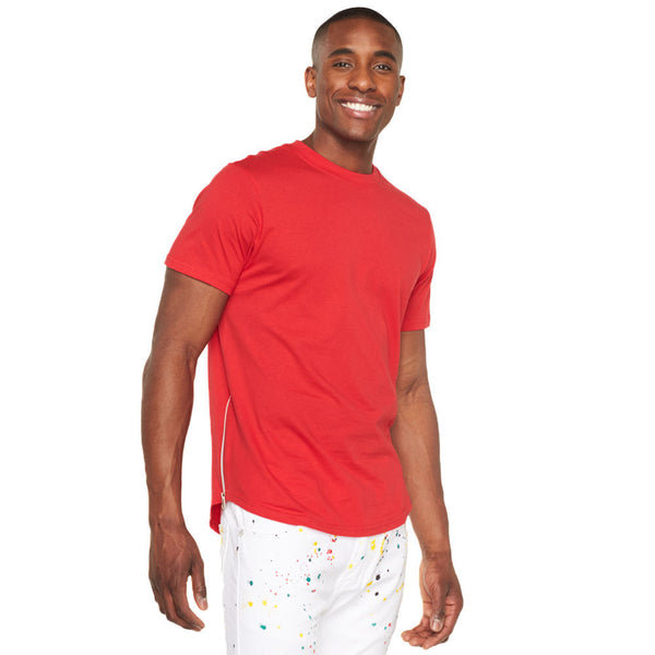 In A Zip Red Curve-Hem Tee - Citi Trends Mens - Front