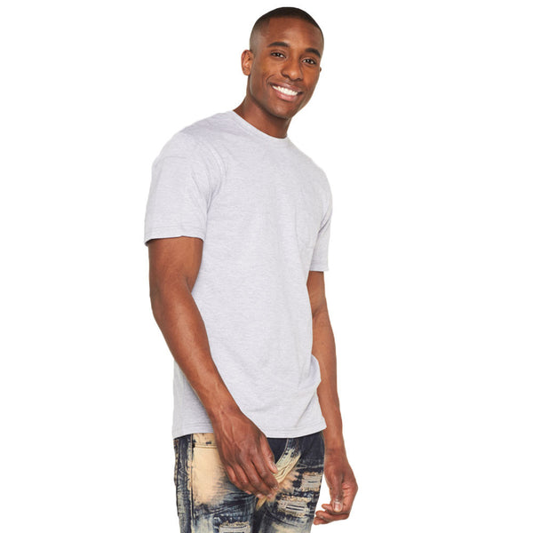 Casual Cool Heather Grey Moto Pocket Tee - Citi Trends Mens - Front