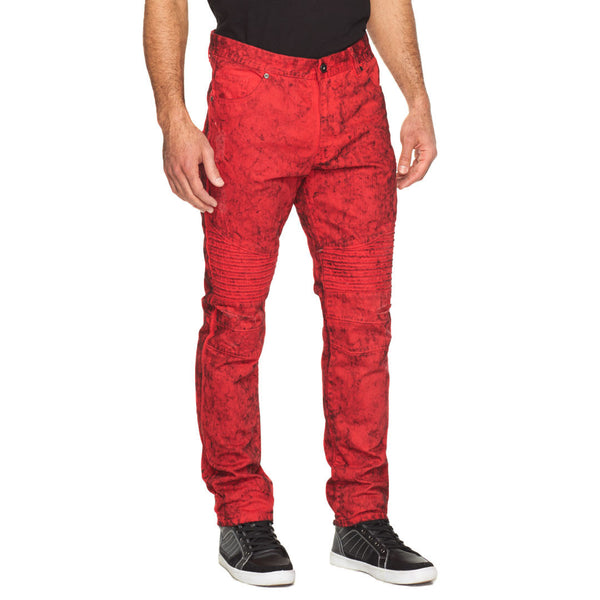 Red-Y Or Not Acid Wash Moto Jean - Citi Trends Mens - Front