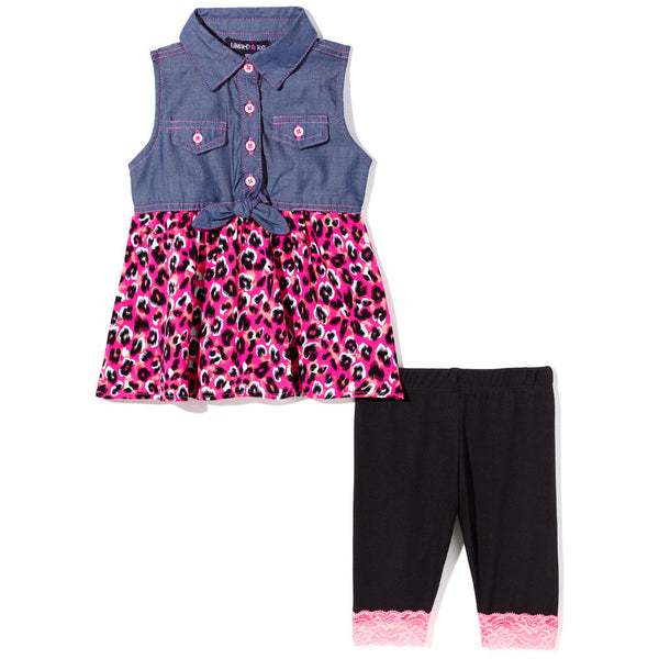 Leopard Love Girls 2-Piece Legging Set - Citi Trends Girls - Front