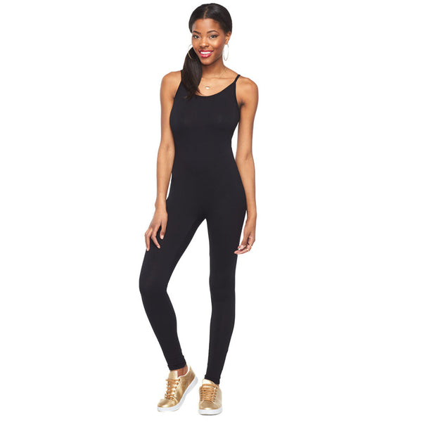 Good-To-Go Black Spaghetti Strap Catsuit - Citi Trends Ladies - Front