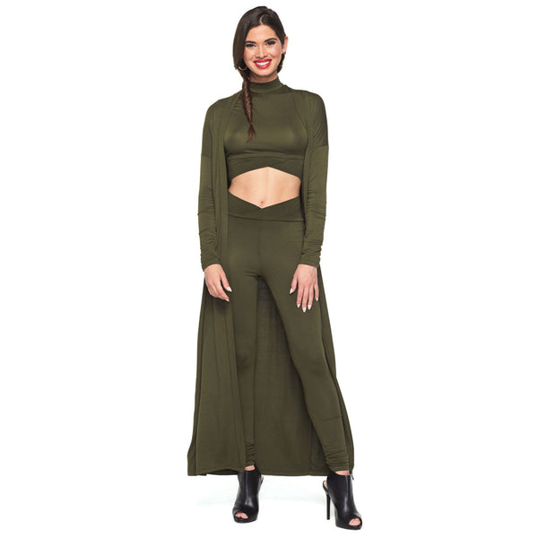 Layer On The Look Olive 3-Piece Legging Set - Citi Trends Ladies - Front