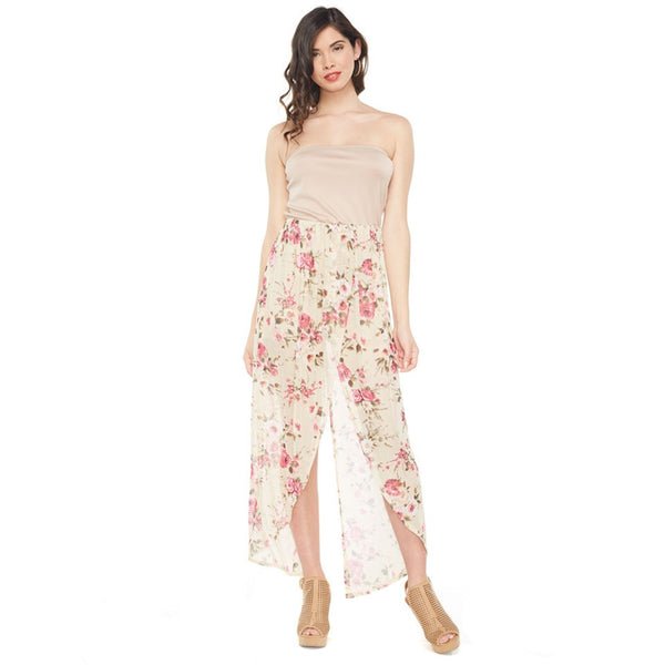 Floral Vibes Strapless Maxi Romper - Citi Trends Ladies - Front