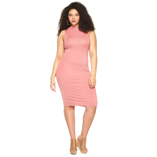 Curve Appeal Rose Midi-Length Bodycon - Citi Trends Plus - Front