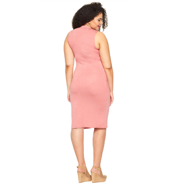 Curve Appeal Rose Midi-Length Bodycon - Citi Trends Plus - Back