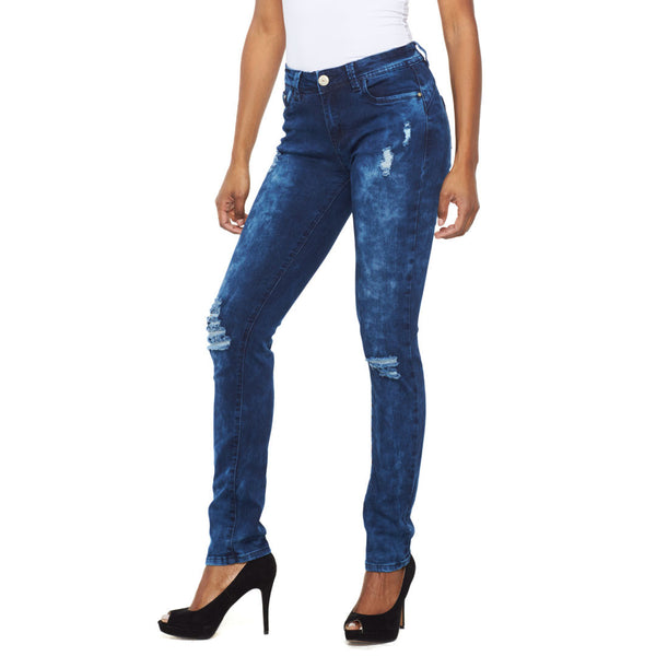 Cloud The Issue Mid-Rise Distressed Skinny Jean - Citi Trends Ladies - Front