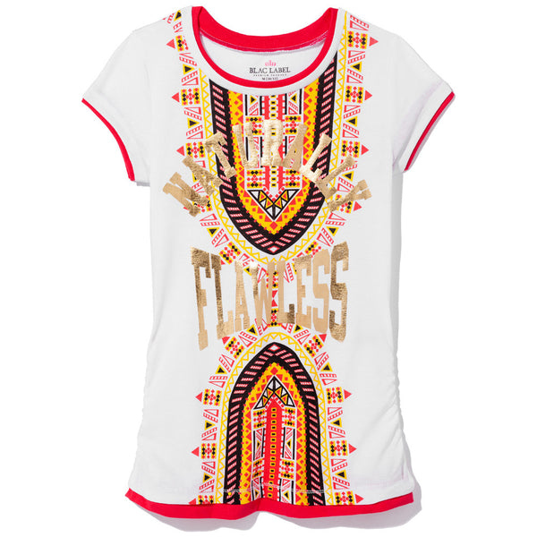 Naturally Flawless Girls Gold Foil Graphic Tee - Citi Trends Girls - Front