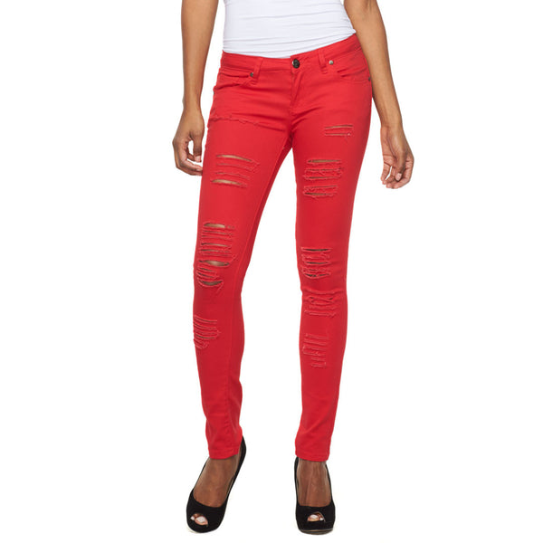Let It Rip Distressed Skinny Jean - Citi Trends Ladies - Front