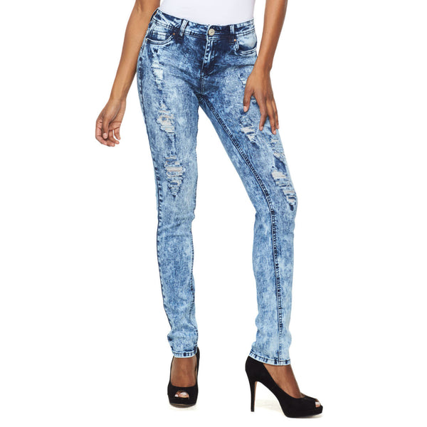 Break The Ice Mid-Rise Distressed Skinny Jean - Citi Trends Ladies - Front