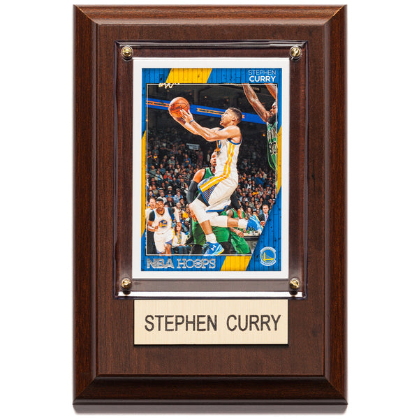 NBA 4x6 Stephen Curry Golden State Warriors Player Plaque