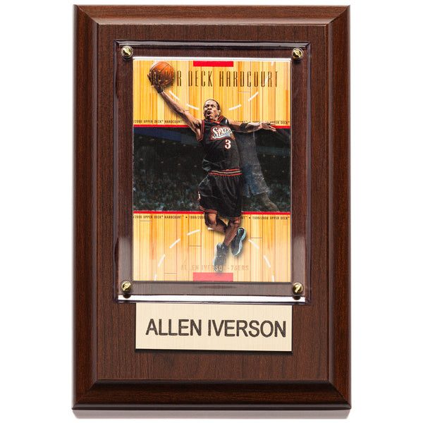 NBA 4x6 Allen Iverson Philadelphia 76ers Player Plaque - Citi Trends Home - Front