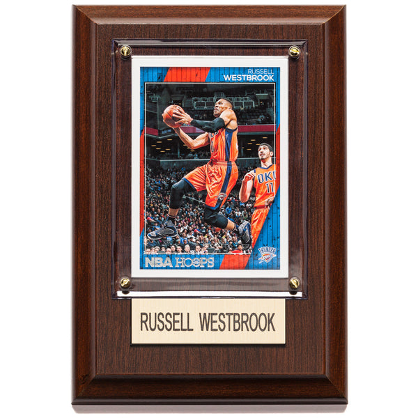 NBA 4x6 Russell Westbrook Oklahoma City Thunder Player Plaque - Citi Trends Home - Front