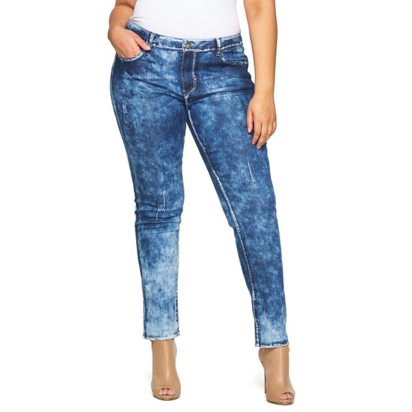 Up In The Clouds Dark Wash Jean - Citi Trends Plus - Front