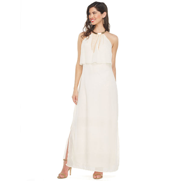 Crazy for Cream Popover Maxi Dress - Citi Trends Ladies - Front