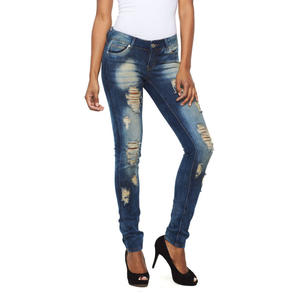 The Rip Factor Distressed Skinny Jean - Citi Trends Ladies and Plus - Front