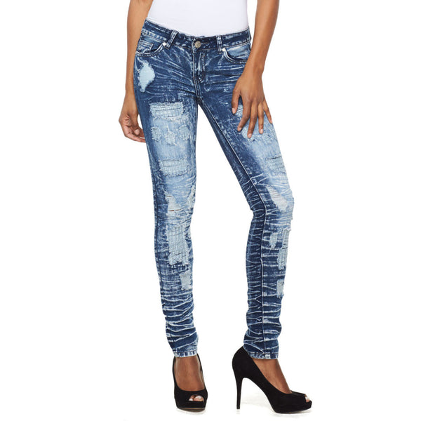 A Crinkle In Time Light Wave Wash Skinny Jean - Citi Trends Ladies - Front