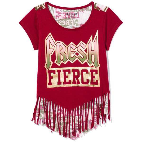 Fringetastic Girls Merlot Graphic Tee - Citi Trends Girls - Front
