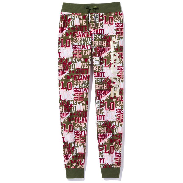 Fresh And Flawless Girls Graphic Print Jogger - Citi Trends Girls - Front