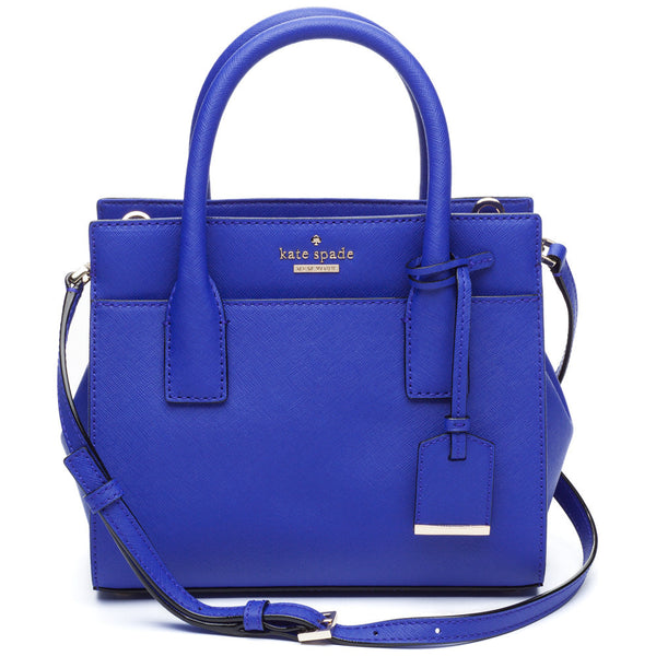 Kate Spade New York Night Life Blue Cameron Street Mini Candace Satchel - Citi Trends Designer - Front