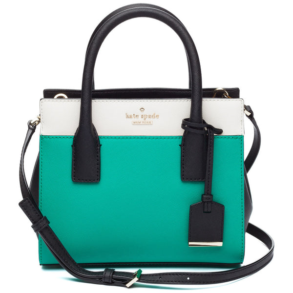 Kate Spade New York Emerald/White/Black Cameron Street Mini Candace Satchel - Citi Trends Designer - Front