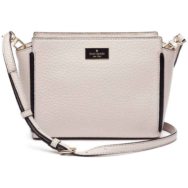 Kate Spade New York Crisp Linen Prospect Place Small Hayden Leather Satchel - Citi Trends Designer - Front