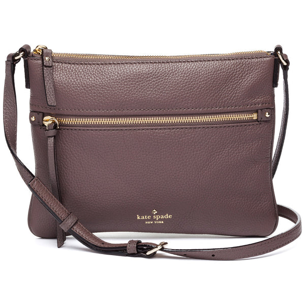 Kate Spade New York Truffle Brown Cobble Hill Gabriele Crossbody Bag - Citi Trends Designer - Front