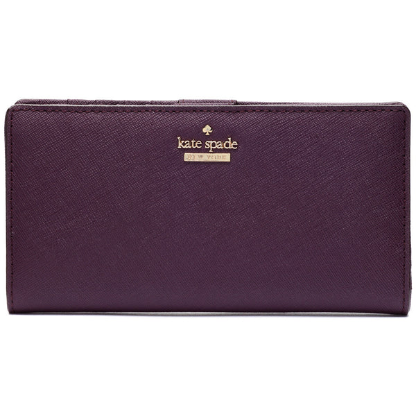 Kate Spade New York Mahogany Cameron Street Stacy Leather Wallet - Citi Trends Designer - Front