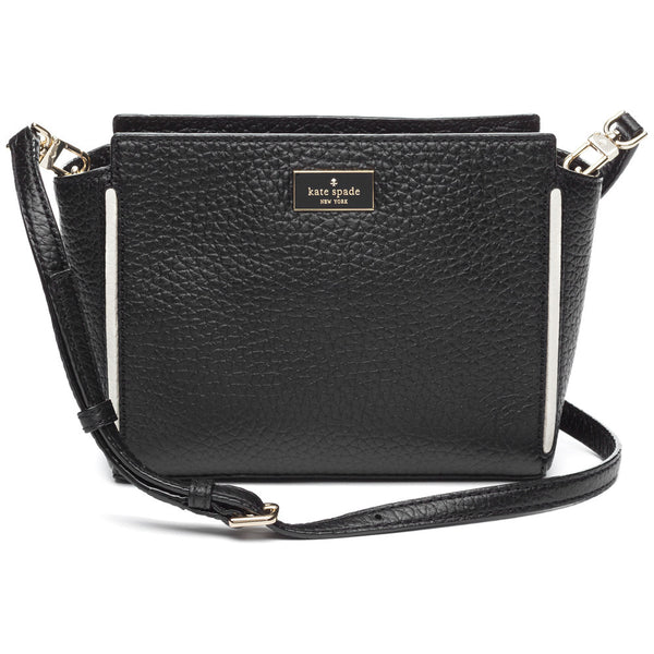 Kate Spade New York Black Prospect Place Small Hayden Leather Satchel - Citi Trends Designer - Front
