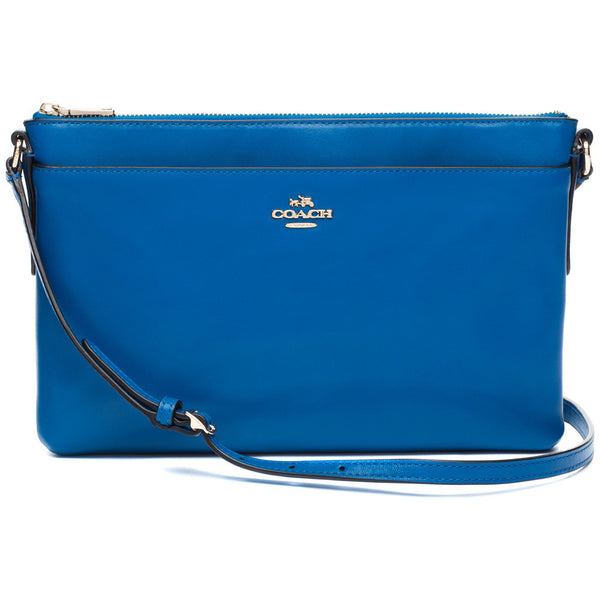 Coach Teal East/West Swingpack Crossbody Bag - Citi Trends Designer - Front