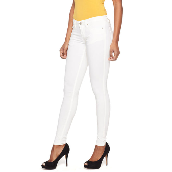 Classic Move White Super Stretch Skinny Pant - Citi Trends Ladies - Front