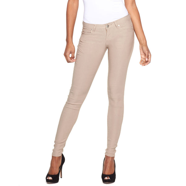 Classic Move Khaki Super Stretch Skinny Pant - Citi Trends Ladies - Front