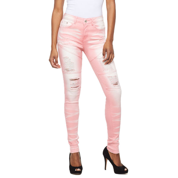 Moto Magic Pink Mid-Rise Skinny Jean - Citi Trends Ladies - Front
