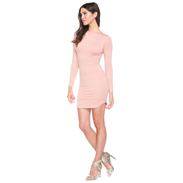 Sleek And Sexy Blush Long Sleeve Bodycon Dress - Citi Trends Ladies - Front