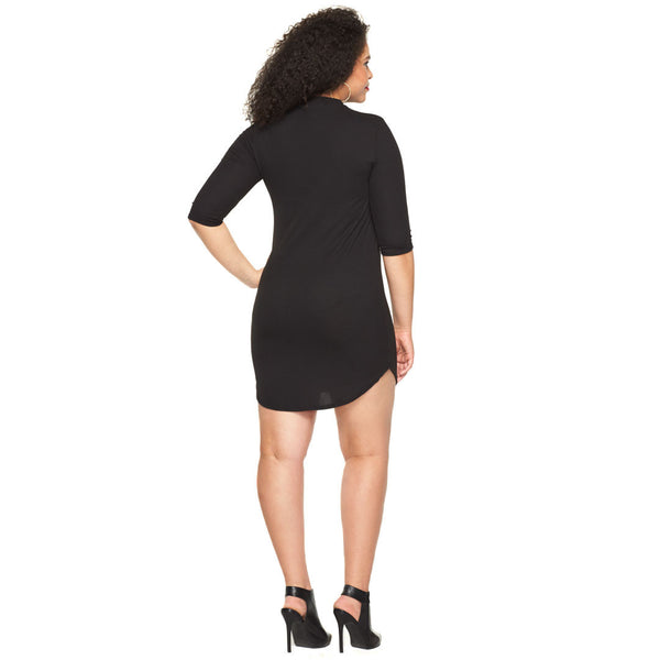 Date Night Ready Black Cutout Bodycon - Citi Trends Plus - Back