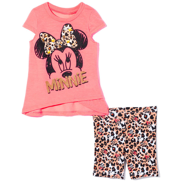 Minnie's New Look Girls 2-Piece Bike Short Set - Citi Trends Girls - Front