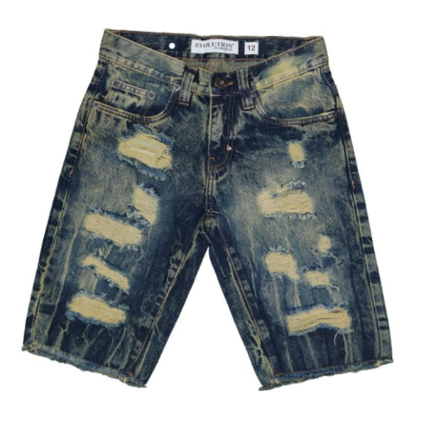 Vintage Upgrade Boys Rip And Repair Jean Short - Citi Trends Boys - Front