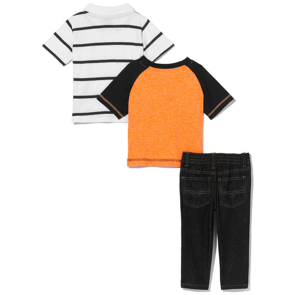 Orange In Favor Boys 3-Piece Denim Pant Set - Citi Trends Boys - Back