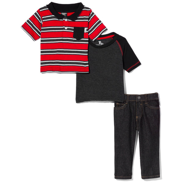 Earn Your Stripes Boys 3-Piece Denim Pant Set - Citi Trends Boys - Front