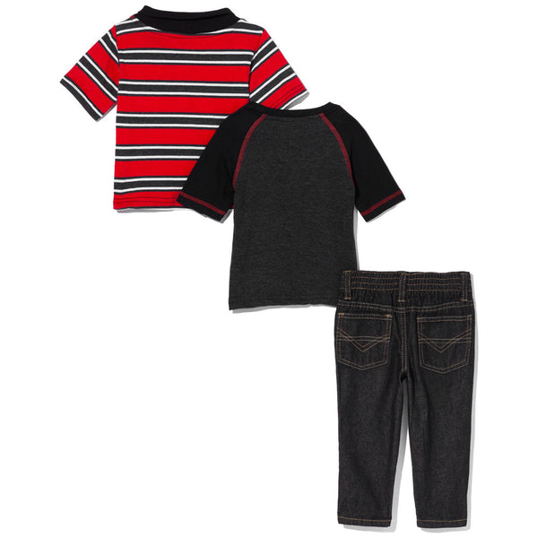 Earn Your Stripes Boys 3-Piece Denim Pant Set - Citi Trends Boys - Back