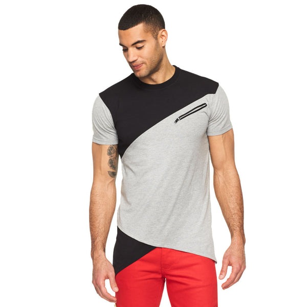 Grey Area Flow Fishtail Hem Tee - Citi Trends Mens - Front