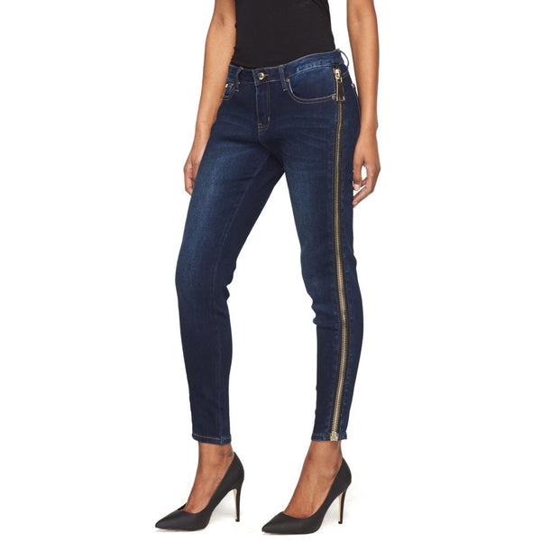 All The Way Up Side Zip Skinny Jean - Citi Trends Juniors - Front