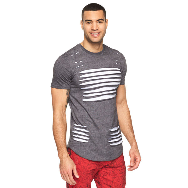 Let It Rip Charcoal Curved Hem Tee - Citi Trends Mens - Front