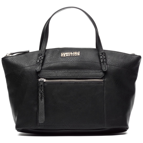 Kenneth Cole Reaction Black Storm Bed Zip Pocket Satchel - Citi Trends Designer - Front