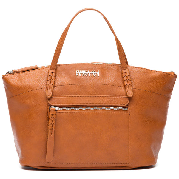 Kenneth Cole Reaction Brown Storm Bed Zip Pocket Satchel - Citi Trends Designer - Front